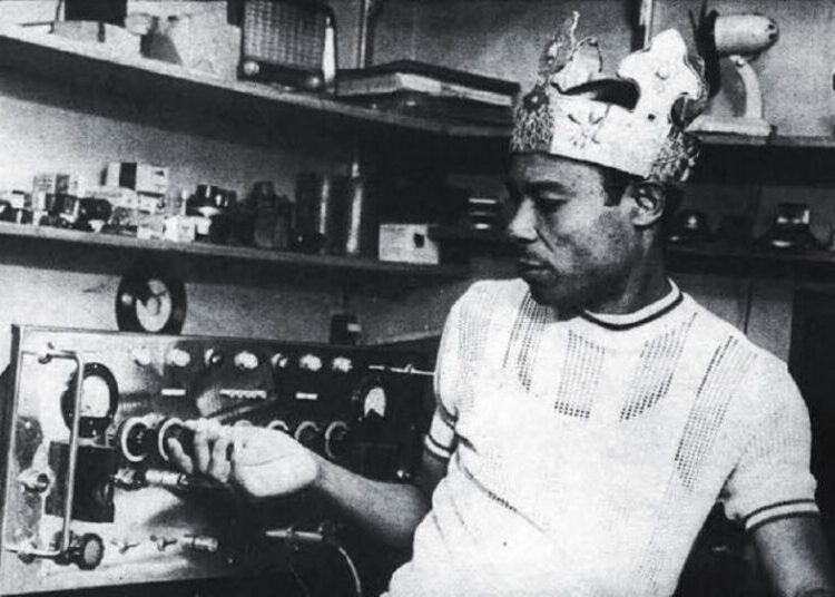 King Tubby working magic in thestudio